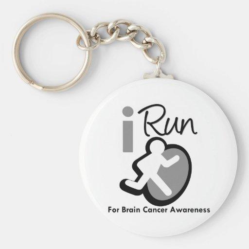 I Run For Brain Cancer Awareness Keychains