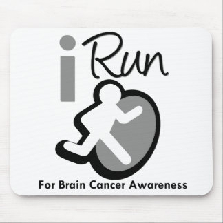 I Run For Brain Cancer Awareness Mouse Pads