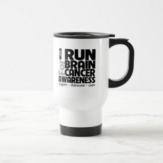 I Run For Brain Cancer Awareness Mugs