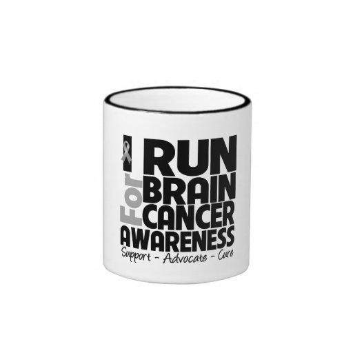 I Run For Brain Cancer Awareness Mug