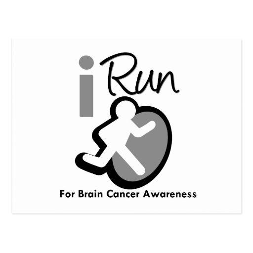I Run For Brain Cancer Awareness Postcards