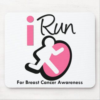 I Run For Breast Cancer Awareness Mouse Pads