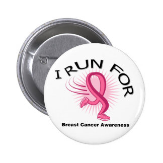 I Run For Breast Cancer Pins