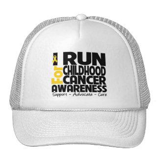 I Run For Childhood Cancer Awareness Cap