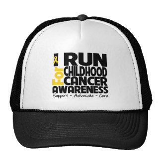 I Run For Childhood Cancer Awareness Cap