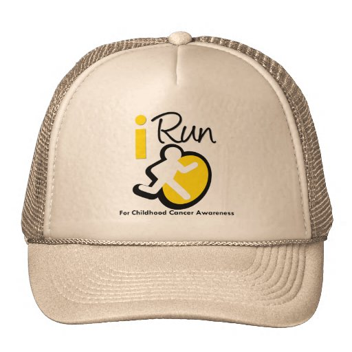 I Run For Childhood Cancer Awareness Hat