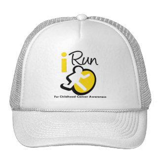 I Run For Childhood Cancer Awareness Hats
