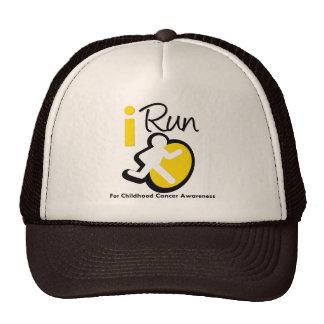 I Run For Childhood Cancer Awareness Trucker Hat