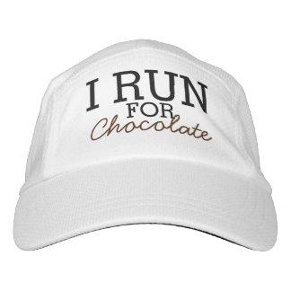 I Run For Chocolate Funny Customizable Running Hat