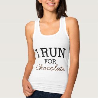 I Run For Chocolate Funny Customizable Running Tshirt