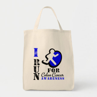 I Run For Colon Cancer Awareness Bag