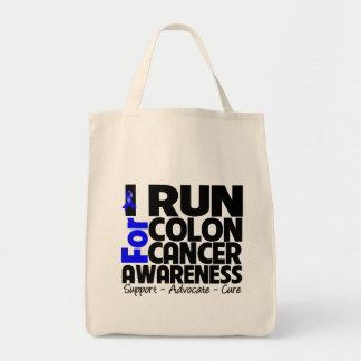 I Run For Colon Cancer Awareness Bags