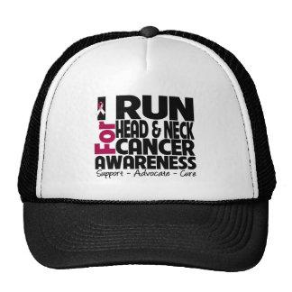I Run For Head Neck Cancer Awareness Trucker Hat