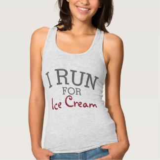 I Run For Ice Cream Funny Customizable Running T-shirt
