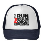 I Run For Mesothelioma Cancer Awareness Hats