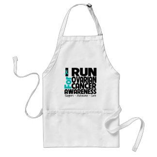 I Run For Ovarian Cancer Awareness Apron