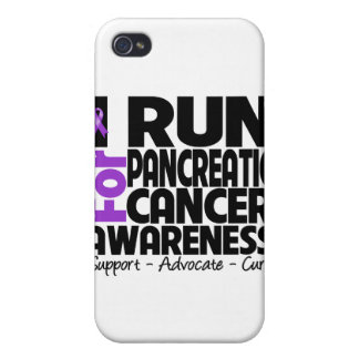 I Run For Pancreatic Cancer Awareness iPhone 4/4S Cover