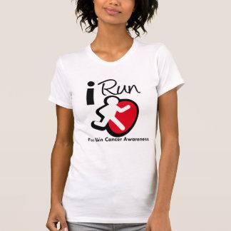 I Run For Skin Cancer Awareness T-shirt