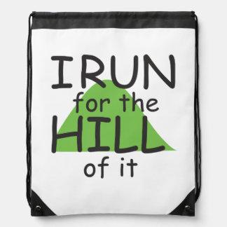 I Run for the Hill of it © - Funny Runner Themed Rucksacks