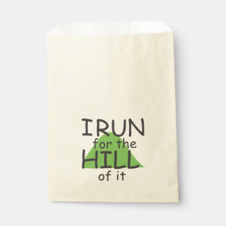 I Run for the Hill of it © - Funny Runner Themed Favour Bags