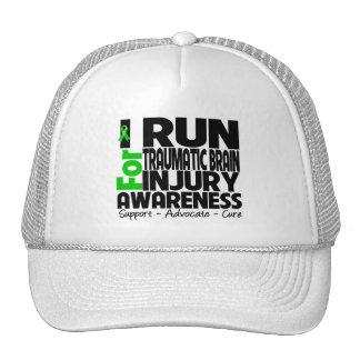 I Run For Traumatic Brain Injury Awareness Trucker Hat