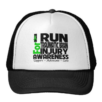 I Run For Traumatic Brain Injury Awareness Hat
