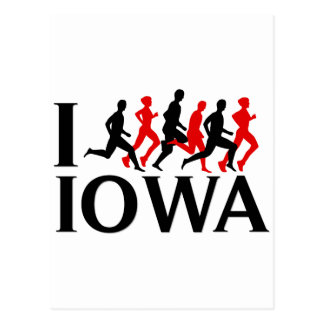 I RUN IOWA POSTCARD
