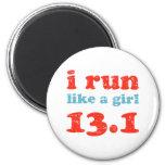 i run like a girl 13.1 magnet
