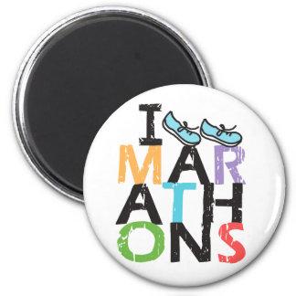 I run Marathons Fridge Magnet