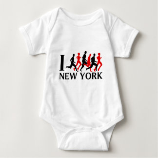 I RUN NEW YORK BABY BODYSUIT