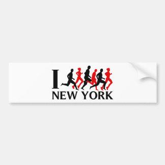 I RUN NEW YORK CAR BUMPER STICKER