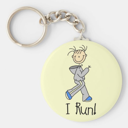I Run T-shirts and Gifts Basic Round Button Key Ring