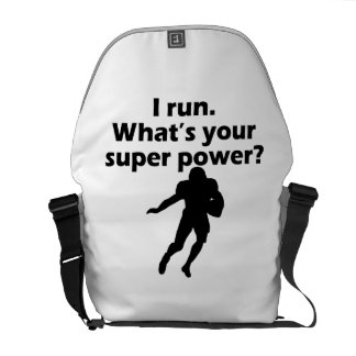 I Run What s Your Super Power Courier Bags
