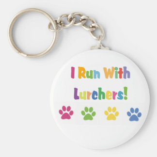I Run With Lurchers! Key Ring