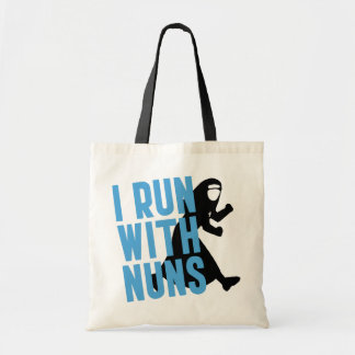 I Run with Nuns Tote Bag