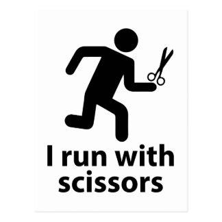 I run with scissors postcard
