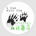 I run with the SPRINTING ARBS Sticker