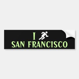I RUN <Your City> Custom Bumpersticker (white) Bumper Sticker