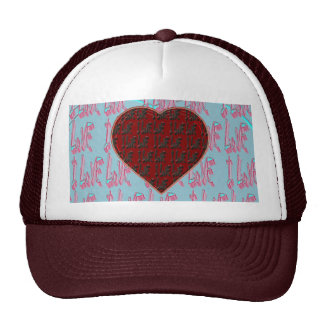 - I Ruv Ruv -SHECKSHE.COM-SheckShe* Heart- Cap