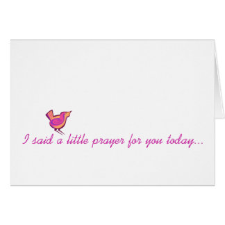 I said a little prayer... card