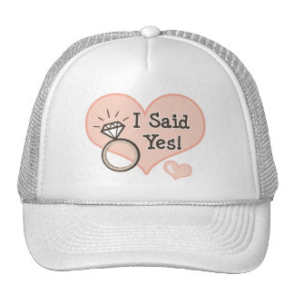 I Said Yes Engagement Bride Hat