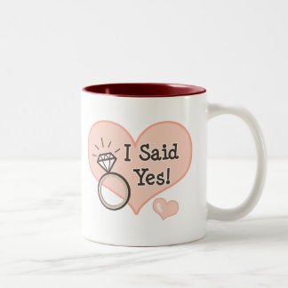 I Said Yes Engagement Mug