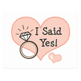 I Said Yes Wedding Announcement Postcard