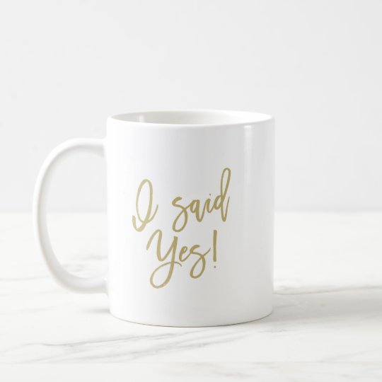 I Said Yes Wedding Planning Coffee Mug