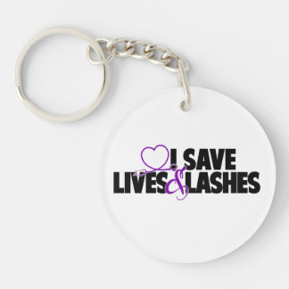I save lives and lashes key ring