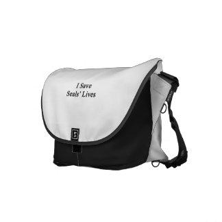 I Save Seals Lives Courier Bag