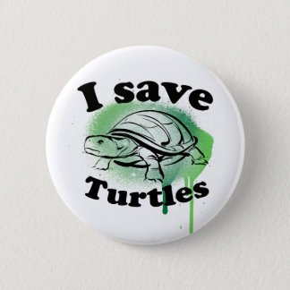 I save Turtles 6 Cm Round Badge