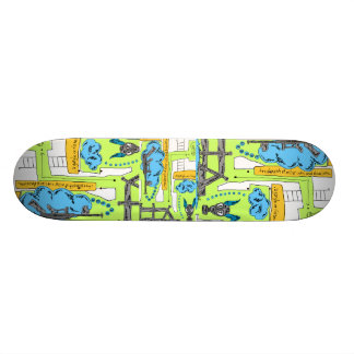 """""""I Saw His Little Furry Tail, Did You?"""" 18.1 Cm Old School Skateboard Deck"""