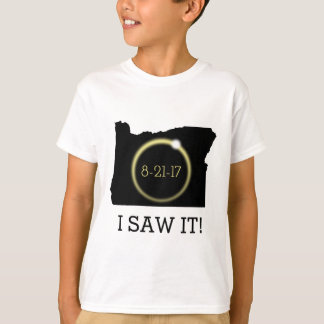 I Saw It Solar Eclipse Corona Oregon Silhouette T-Shirt