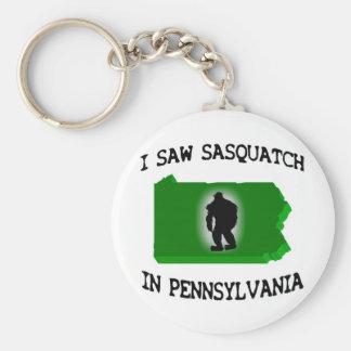 I Saw Sasquatch In Pennsylvania Basic Round Button Key Ring